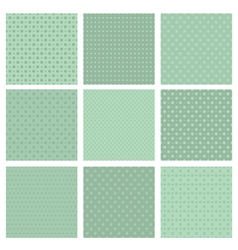 Set of simple geometric seamless patterns vector image vector image