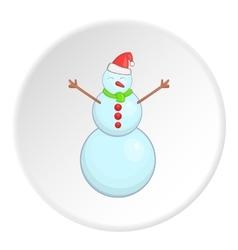 Snowman icon cartoon style vector image