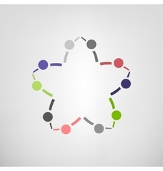 Teamwork helping icon vector image