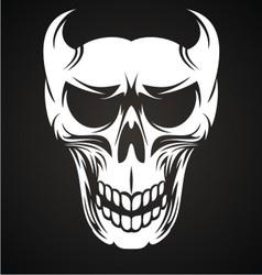 White Devil Skulls vector image vector image