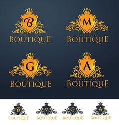 Elegant luxury monogram logo or badge vector
