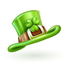 Green cap of saint patrick vector