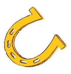 horseshoe icon image vector image