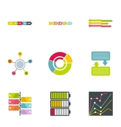 Success in business icons set flat style vector
