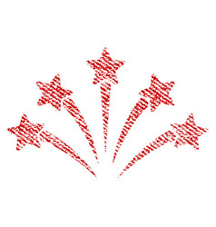 Fireworks burst fabric textured icon vector