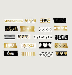 Washi tape strips collection vector