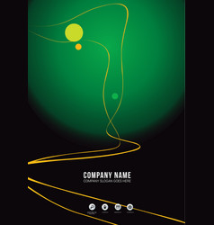 Dark and green brochure cover concept vector