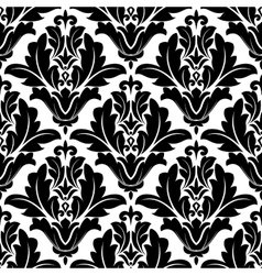 Bold black and white arabesque pattern design vector