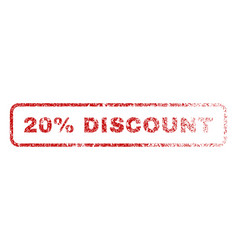 20 percent discount rubber stamp vector image vector image