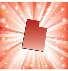 Red Utah vector image