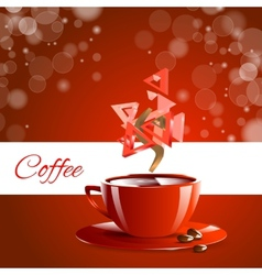 Espresso coffe red coffee vector