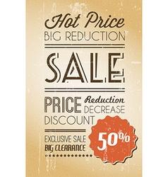 Grunge retro sale background vector