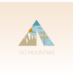 Mountain camp logo design template adventure vector
