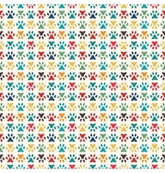 Animal seamless pattern of paw footprint vector