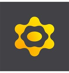 Ufo icon link logo vector image