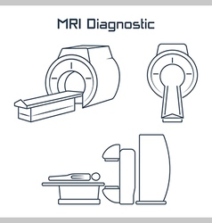 Mri diagnostic icons vector