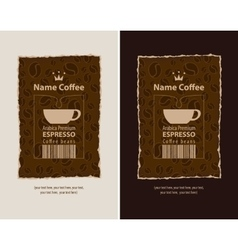 Labels for coffee beans vector