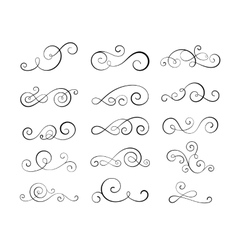 Vintage flourish swirls vector