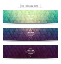 Retro web banners set vector