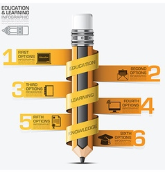 Education and learning infographic with spiral tag vector