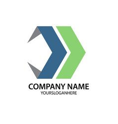 abstract arrow business company logo vector image vector image