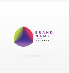 Abstract colorful logo design template vector