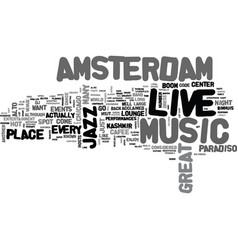 Amsterdam hotels text word cloud concept vector