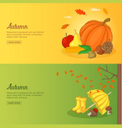 autumn banner or poster set collection vector image