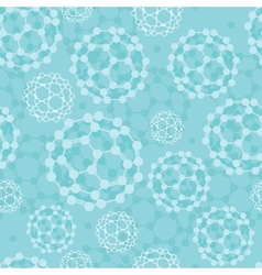 Buckyballs seamless pattern background vector image vector image