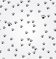 Cat paw prints seamless background vector