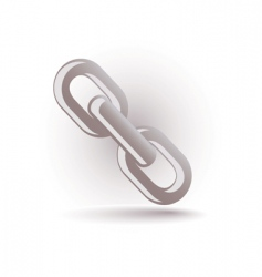 chain icon vector image vector image