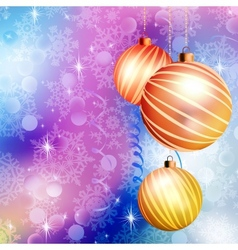 Christmas ball on abstract blue lights eps 10 vector