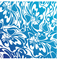 Color seamless swirl sea background blue abstract vector
