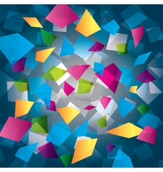 Colorful abstract background with rectangles vector image