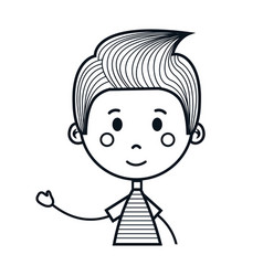 cute little boy drawing icon vector image