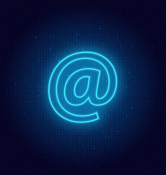 e-mail symbol on a digital background vector image vector image