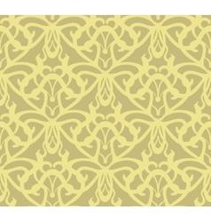 Elaborate golden vintage seamless pattern vector