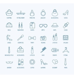 Fashion logo icons set style dress or vector