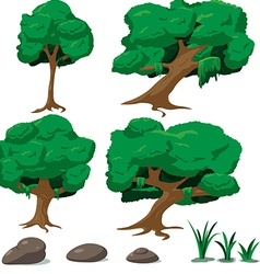 Forest Tree Cartoon Set vector image vector image