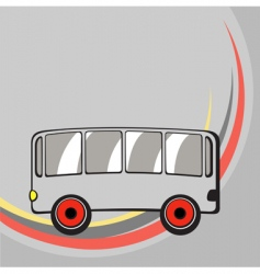funny bus vector image vector image