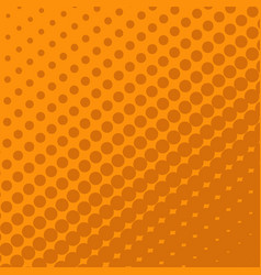 halftone dots on orange background vector image vector image