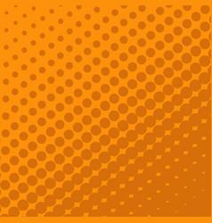 Halftone dots on orange background vector