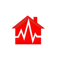 Home medical care logo vector