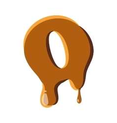 Letter O from caramel icon vector image