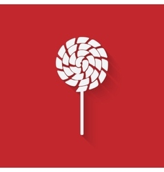 Lollipop icon in flat style vector image