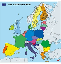 map of European Union vector image vector image