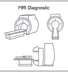 Mri diagnostic icons vector