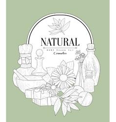 NAtural Cosmetics Vintage Sketch vector image vector image