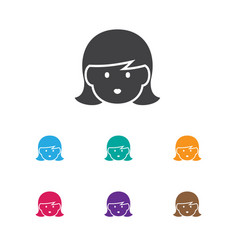 of folks symbol on mom icon vector image vector image