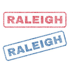 Raleigh textile stamps vector